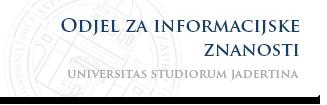 Sveučilište u Zadru - Odjel za informacijske znanosti