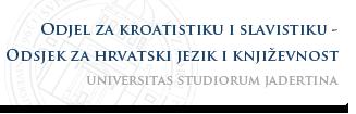 Sveučilište u Zadru - Odjel za kroatistiku i slavistiku - Odsjek za hrvatski jezik i književnost